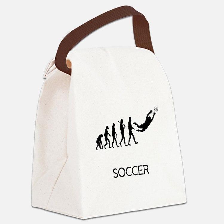 Soccer Goalie Evolution Canvas Lunch Bag