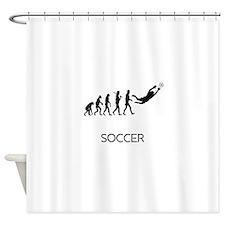 Soccer Goalie Evolution Shower Curtain