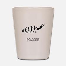 Soccer Goalie Evolution Shot Glass