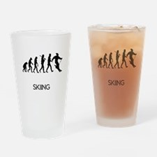 Skiing Evolution Drinking Glass
