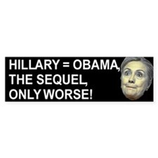 Hillary Obama The Sequel Bumper Bumper Sticker