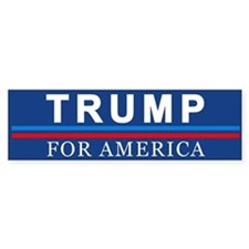 Trump For America Bumper Car Sticker