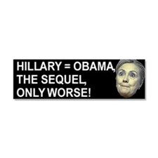 Hillary Obama The Sequel Car Magnet 10 X 3