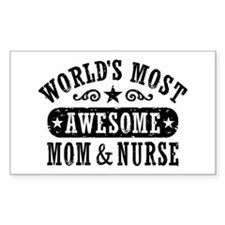 Awesome Mom and Nurse Decal