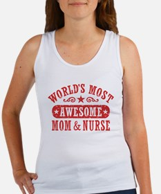 Awesome Mom and Nurse Women's Tank Top