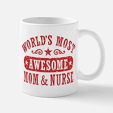 Awesome Mom and Nurse Small Small Mug