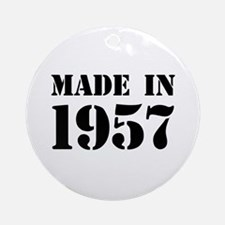 Made in 1957 Ornament (Round)