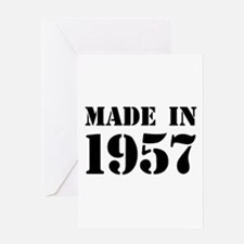 Made in 1957 Greeting Cards