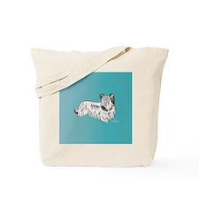 Skye Terrier, Cream Tote Bag