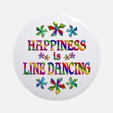 Happiness is Line Dancing Ornament (Round)