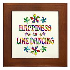 Happiness is Line Dancing Framed Tile