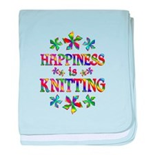 Happiness is Knitting baby blanket