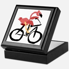 Flamingo on Bike Keepsake Box