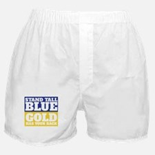 Stand Tall, Blue Boxer Shorts