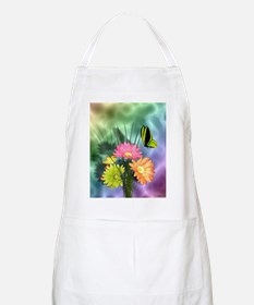 Painted Daisies and Butterfly Apron
