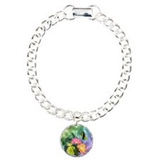 Painted Daisies and Butt Charm Bracelet, One Charm