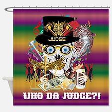 Mardi Gras Judge Shower Curtain
