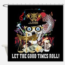 Mardi Gras Judge Shower Curtain