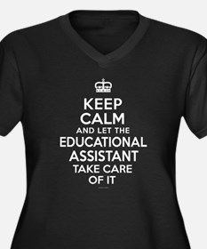 Educational Assistant Keep Calm Plus Size T-Shirt