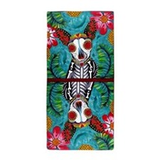 Funny Day of the dead Beach Towel