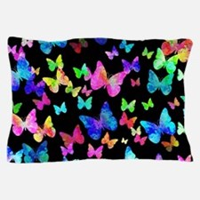 Psychedelic Butterflies Pillow Case