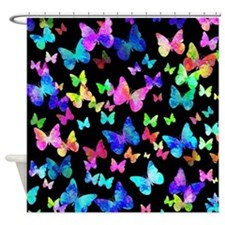 Psychedelic Butterflies Shower Curtain