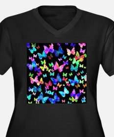 Psychedelic Butterflies Plus Size T-Shirt