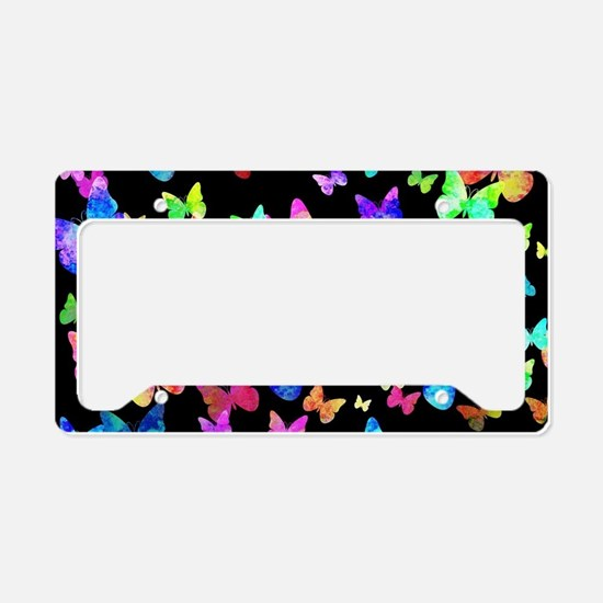Psychedelic Butterflies License Plate Holder