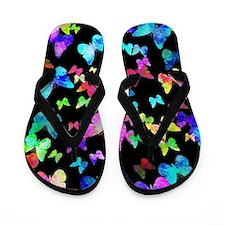 Psychedelic Butterflies Flip Flops