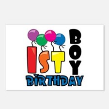 Boy 1st Birthday Postcards (Package of 8)