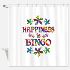 Happiness is Bingo Shower Curtain