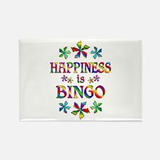 Happiness is Bingo Rectangle Magnet