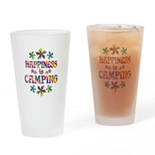 Happiness is Camping Drinking Glass