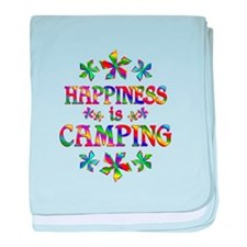 Happiness is Camping baby blanket