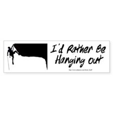 I'd Rather Be Hanging Out Bumper Car Sticker