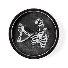 Praying Skeleton Wall Clock