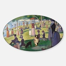 Dog running in Seurat's painting Decal