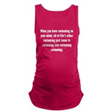 Swimming On Your Mind Maternity Tank Top