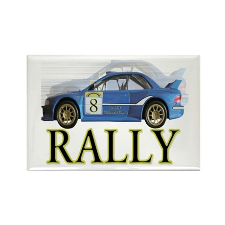 ...Rally Blue... Rectangle Magnet