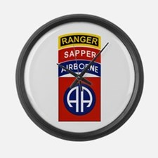 82nd Airborne Ranger Sapper Large Wall Clock