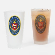 USS City of Corpus Christi SSN 705 Drinking Glass