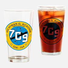 USS Hyman G. Rickover SSN 709 Drinking Glass