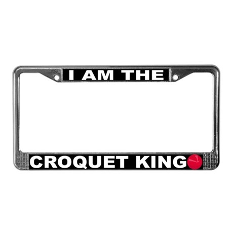 Croquet License Plate Frame