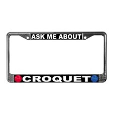 Croquet License Plate Frame