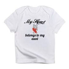 My Heart Belongs To My Aunt Infant T-Shirt