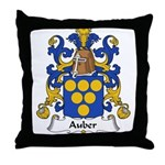 Auber Family Crest Throw Pillow