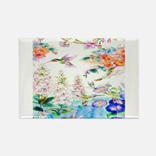 Hummingbirds and Flowers Landscape Magnets