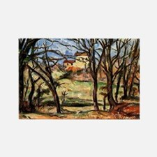 Cezanne - House behind Trees on t Rectangle Magnet