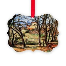 Cezanne - House behind Trees on t Ornament