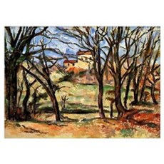 Cezanne - House behind Trees on the Road to Tholon Poster
